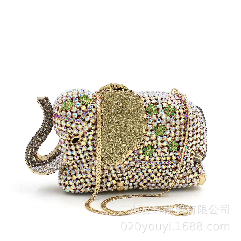 XIYUAN كريستال مرصع المرأة حقائب يد كريستال الماس الراين مساء حقيبة السيدات ساحة حقائب الزفاف حقائب يد