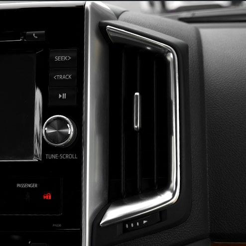10 Uds. Embellecedores interiores de acero inoxidable para Toyota Land Cruiser 200 LC200/FJ200 2016 2017 2018 Accesorios