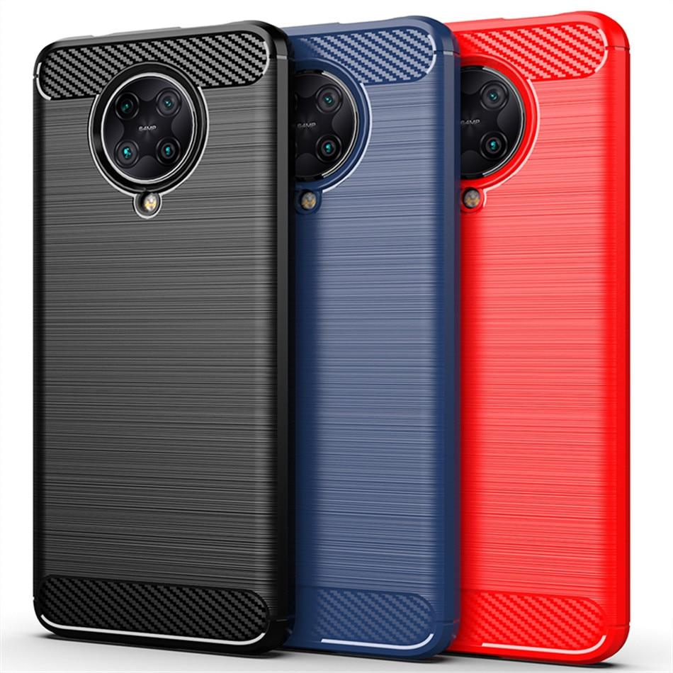Funda mate para Xiaomi Poco F2 Pro Pocophone F1 X2 M2 Fundas de fibra de carbono TPU Funda de silicona para Redmi K30 Pro 5G K20 Funda esmerilada