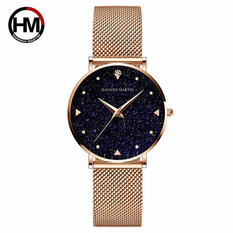 Hannah Martin Wristwatch Women Watches Luxury Brand Quartz Steel Strap Female Watch Diamond Ladies Watch Clock Women Reloj Mujer 2020 women watches top brand luxury quartz watch leather strap fashion wristwatch for women clock ladies hodinky reloj mujer