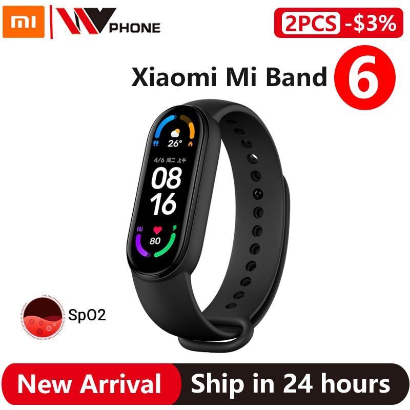 Xiaomi Mi Band 6 Smart Bracelet 5 Color AMOLED Blood Oxygen Smart band Fitness Traker Heart Rate Bluetooth Waterproof Miband 6