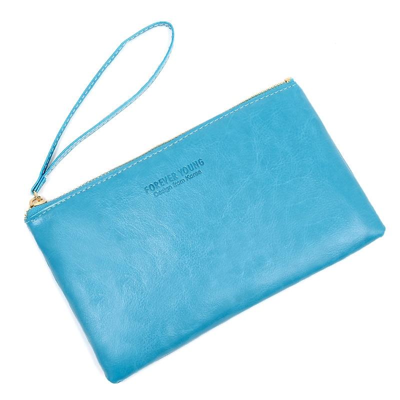 2019 Solid Men Women Wallets PU Leather Bag Zipper Handy Clutch Coin Purse Phone Key Holder Wristlet Portable Travel Handbag