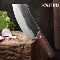xituo handmade kitchen knife slaughter butcher meat chef knife high manganese steel hardness composite steel forging blade sharp