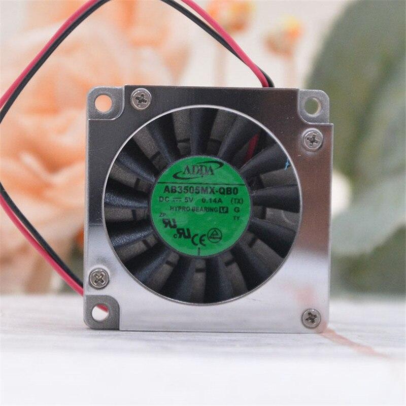 Adda AB3505MX-QB0 3507 35mm nota livro ventilador portátil ventilador 35x35x7mm 3.5cm ventilador de refrigeração dc 5 v com escudo de alumínio