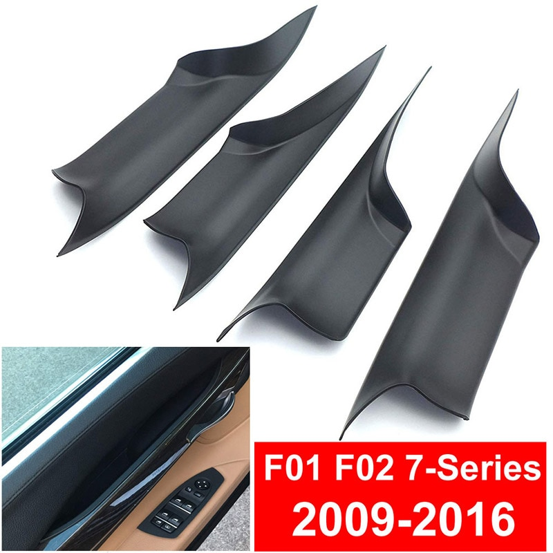 Car Interior Door Handles For BMW F01 F02 7-Series2009-2016 Inner Doors Panel Handle Black Trim  Interior accessories