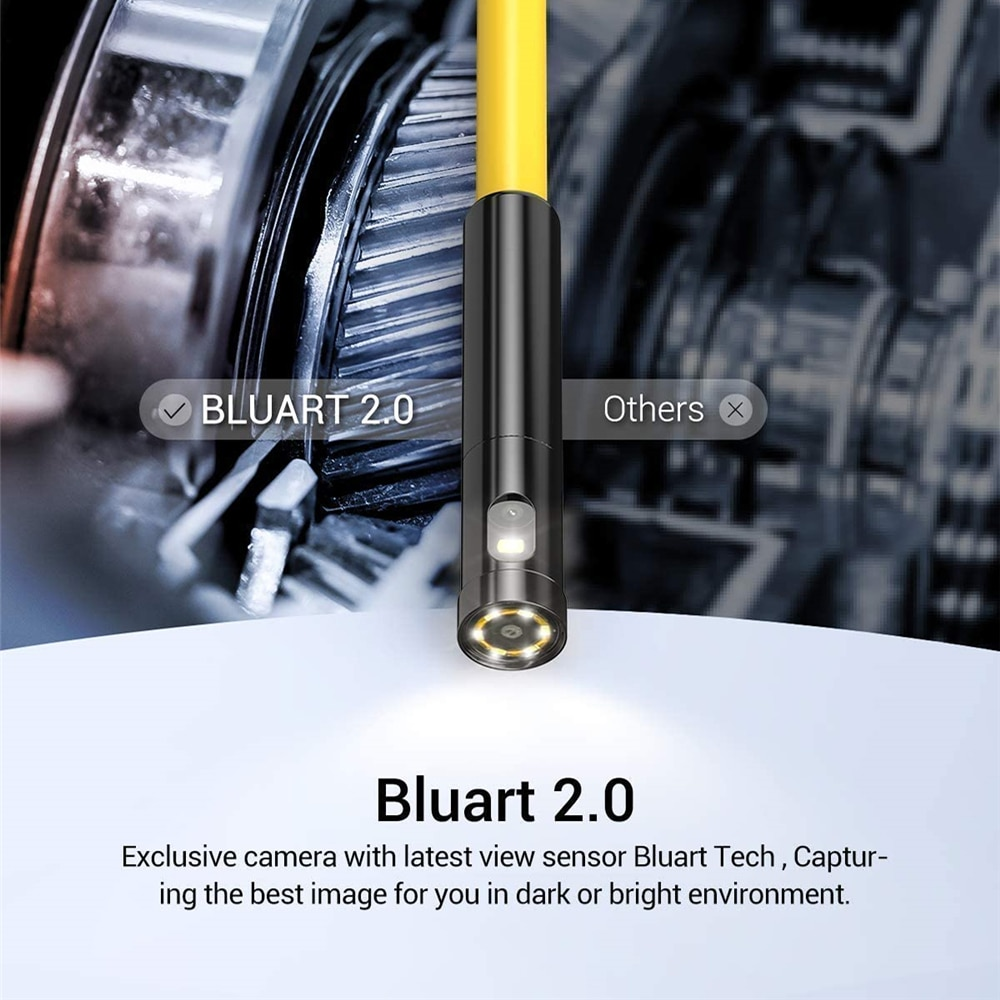 Dual Lens 1080P Endoscope Camera HD WiFi Inspection Camera with 6 LED for iPhone & Android for Car Sewer DEPSTECH
