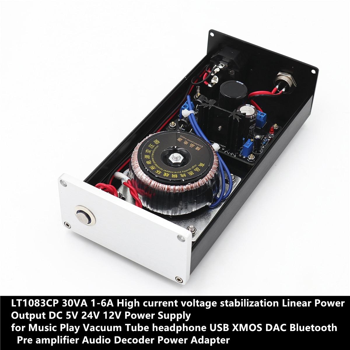 30 واط انزلاق الخطي LT1083CP عالية الطاقة قابل للتعديل منظم HIFI الخطي امدادات الطاقة تيار مستمر 5 فولت 12 فولت 24 فولت ل DAC محلل شفرة سمعي