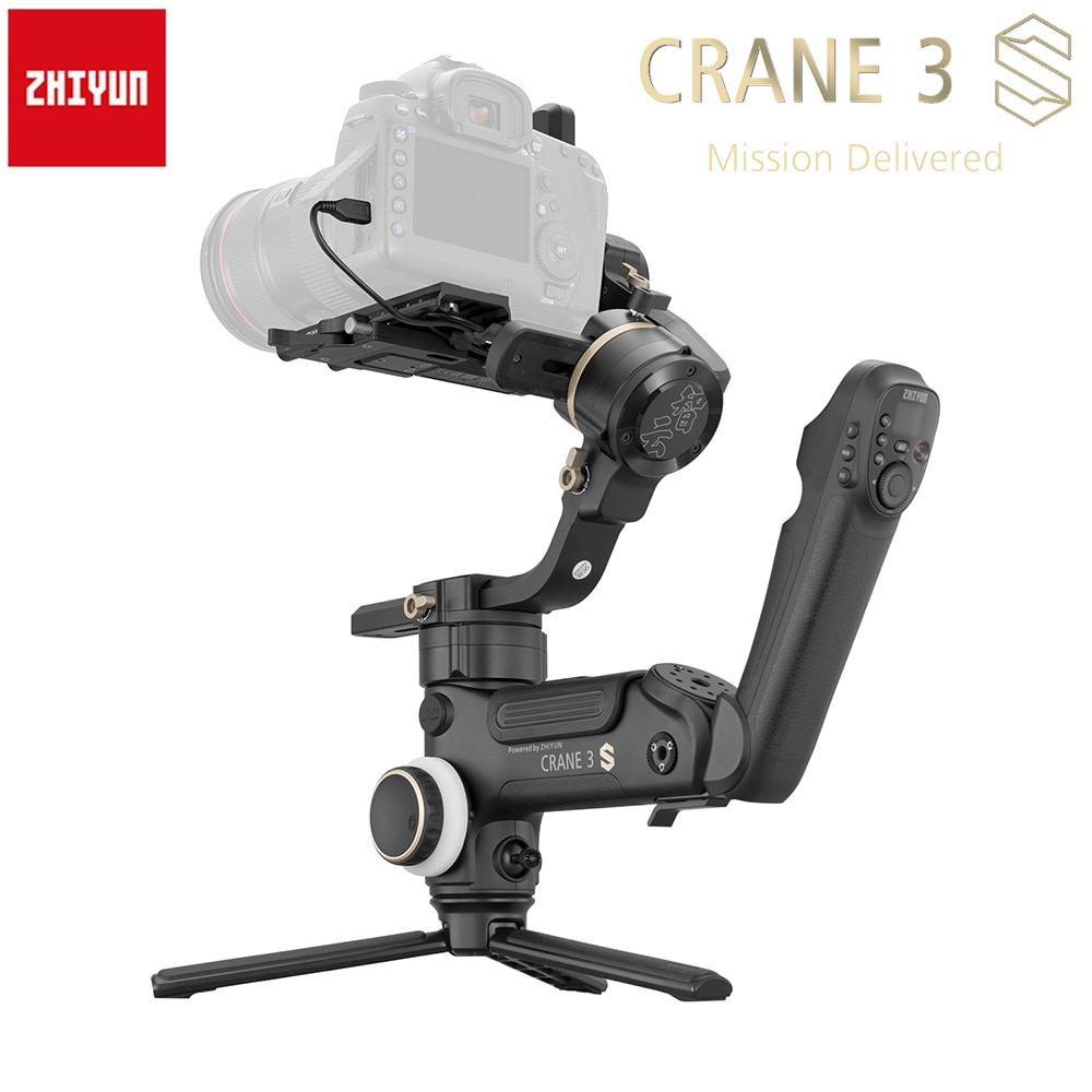 Zhiyun grue 3S 3S-E 3S-Pro 3 axes stabilisateur de cardan de Transmission dimage tenu dans la main 6.5Kg Maxload pour les appareils photo sans miroir DSLR vidéo