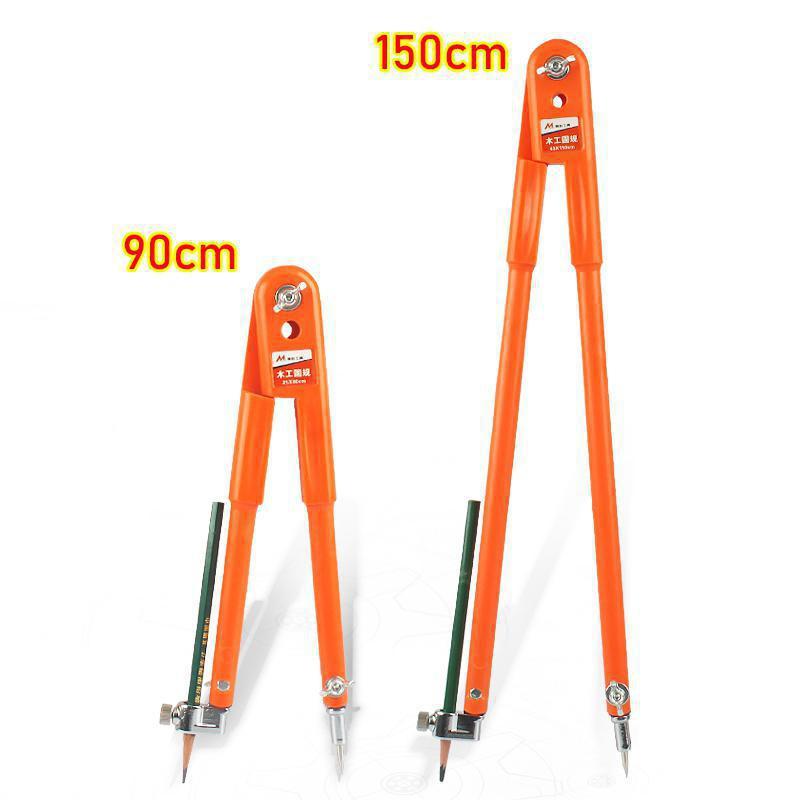 Compases de lápiz de precisión de carpintero, divisores ajustables de gran diámetro, brújula de marcado y trazado para carpintería