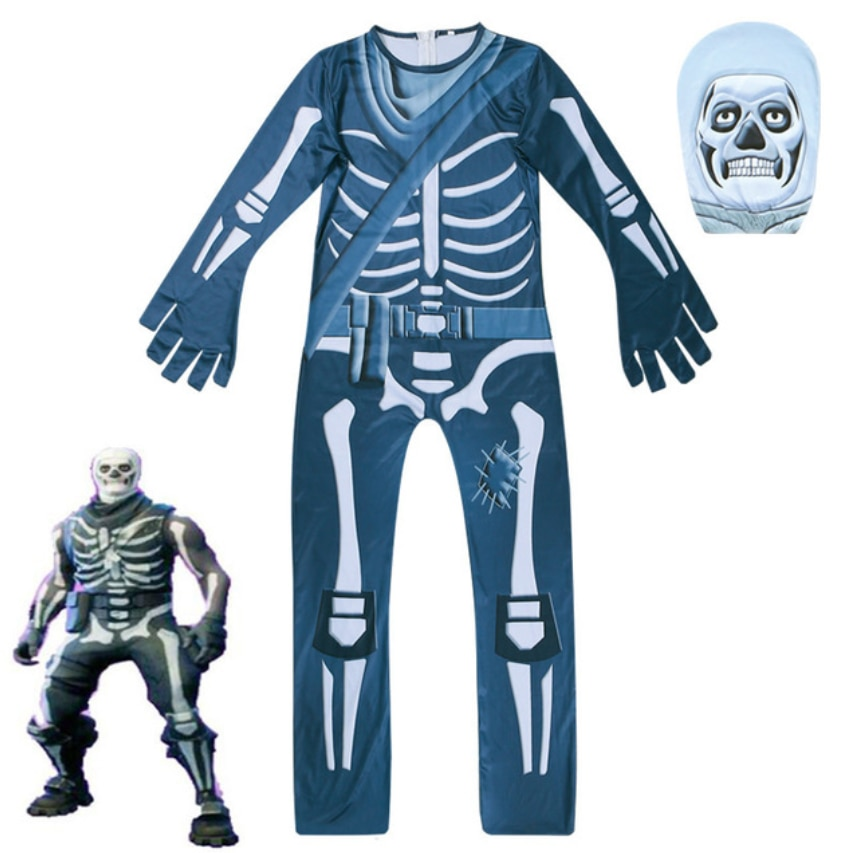 Carnival Gingerbread Cosplay Boys Costume Kids Party Halloween Costume for Kids Costumes Boys Ghost Skull Jumpsuits Mask