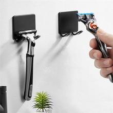 Shaver Holder Men Shaving Razor Punch Free Wall Stand Shelf Shaving Razor Storage Rack Bathroom Stai