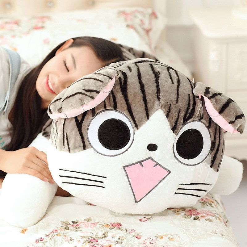 LISM 1pcs 4 Styles Kitty Cat Plush Toys Stuffed Doll Soft Animal Dolls Cheese Cat Stuffed Toys Dolls Pillow Cushion for Kids