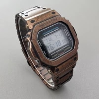 dw5600 retro copper bronze strap set for dw56105600 bronze coloured stainless steel watchband casebezel with tools screws