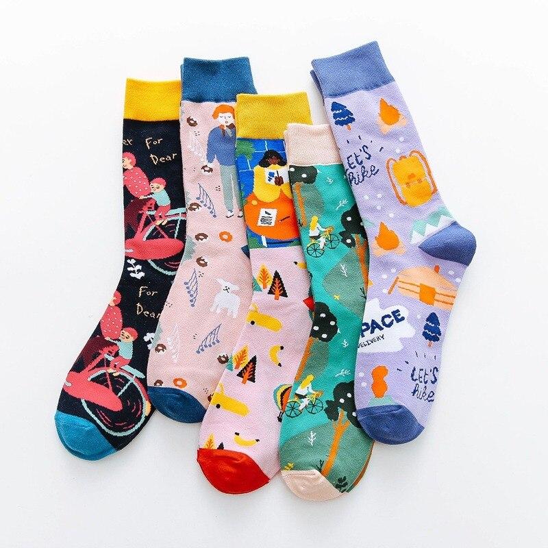 Spring Autumn New Style Funny Socks Women Cotton Japanese Korean Cute Women Socks Harajuku Cartoon Creative 052001