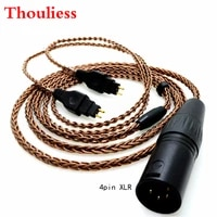 thouliess hifi 1 2m 8cores pure copper headphone replacement audio cable for hd600 hd650 hd525 hd545 hd565 hd580 headphones