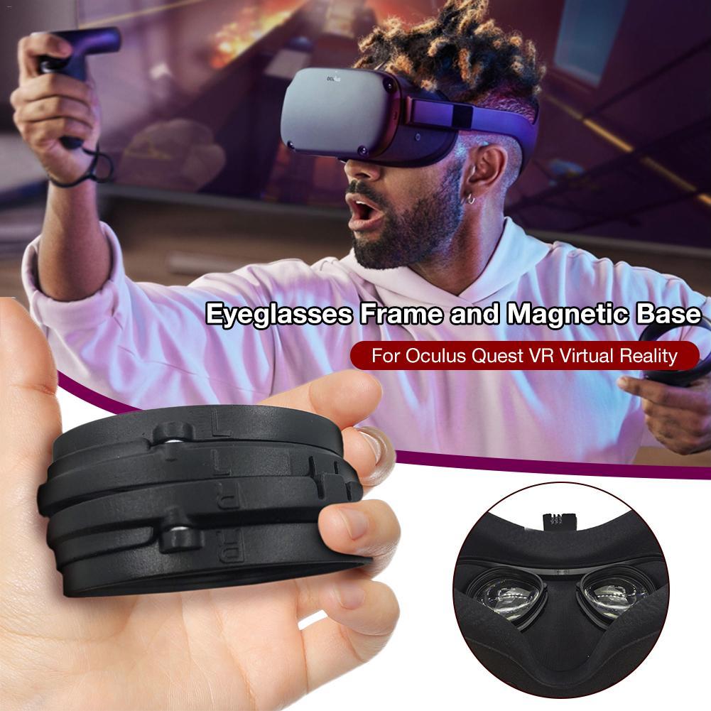 ABS Marco de gafas magnético para Oculus Quest VR marco de protección de lentes desmontaje rápido sin lentes VR accesorios de vidrio