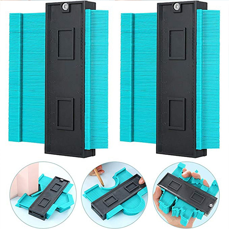 Medidor de duplicação de contorno de plástico, ferramenta de medição, régua radiante, medidor de marcação, ladrilhos, laminado