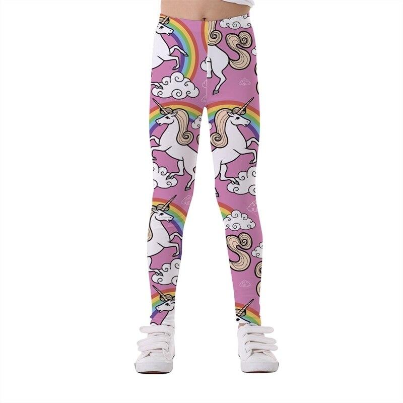 От 5 до 12 лет штаны для девочек; осенние брюки; леггинсы с объемным рисунком единорога; леггинсы для девочек; эластичные спортивные брюки для йоги