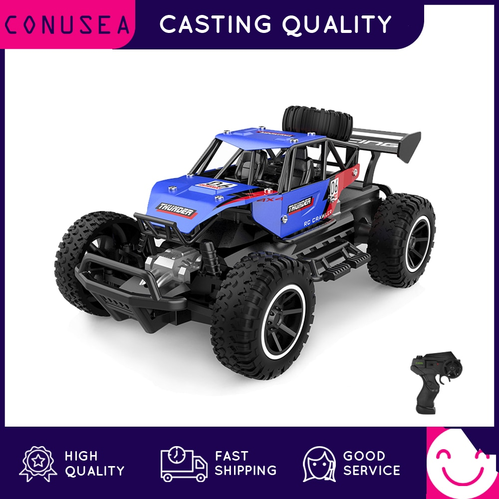 RC Car 1:20 Scale Alloy Remote Control Cars All Terrains Electric Toy Off Road RC Monster Vehicle Truck Crawler Toys for Kids 1 12 mn 90k rc crawler car 2 4g 4wd remote control big foot off road crawler military vehicle model rtr remote control truck toy
