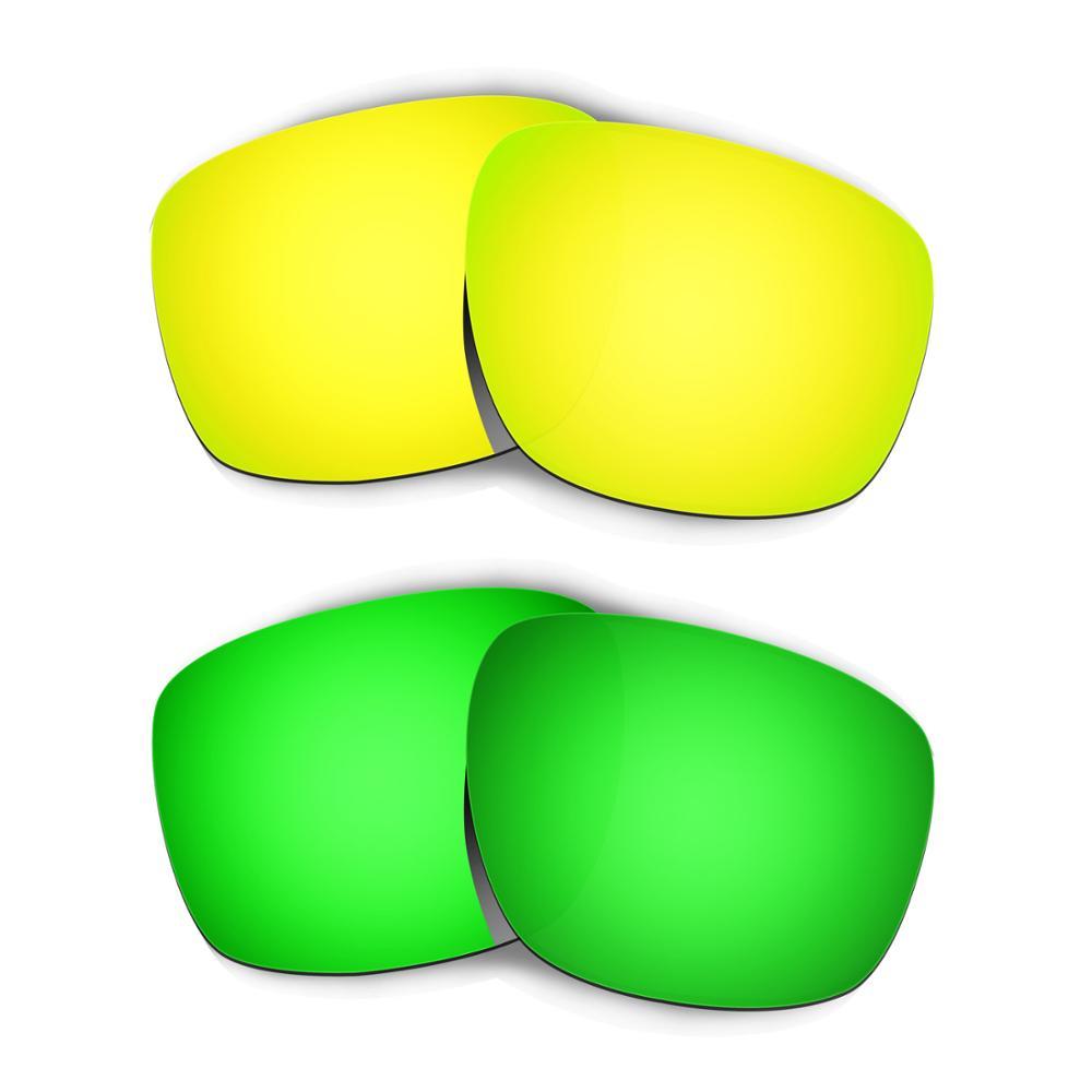 HKUCO para gafas de sol de repuesto polarizadas 2 pares-oro y verde