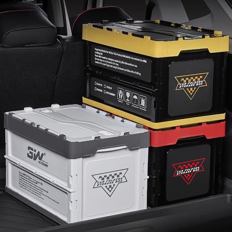 لوازم المنزل مركبة شنت صندوق تخزين خزانة ملابس حاويات طوي صندوق من البلاستيك للأحذية الحمام الأشياء المخازن