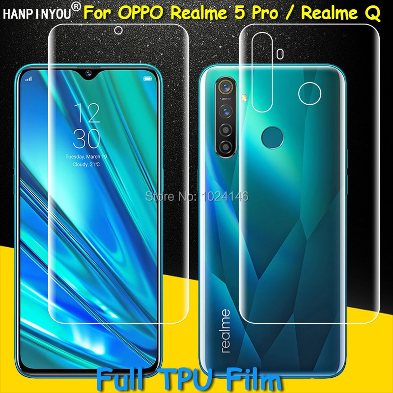 Full Coverage Clear TPU / Matte Hydrogel Protective Film Screen Protector For Realme 5 Pro 5Pro / Q