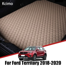 Leather Car Trunk Mat for Ford Territory 2018 2019 2020 2021 EV Cargo Liner Boot Pad Auto Accessorie
