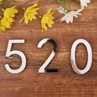 3d numbers mirror surface wall sticker acrylic number signs on the door decorations for home art mural party supplies birthday