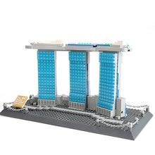 Wange 881 Pcs Architektur Serie Singapur Marina Bay Sands Bausteine Sets Bricks Classic City Skyline Modell Kinder Spielzeug