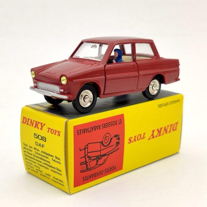 Atlas 143 dinky brinquedos 508 para daf vermelho diecast modelos coleção