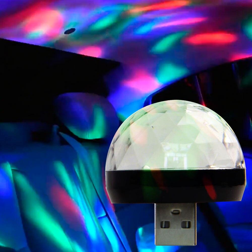 USB proyector atmósfera luz LED lámparas para BMW E46 E39 E60 E90 E36 F30 F10 Mini Cooper Lada granta vesta chevrolet Accesorios