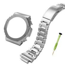 316L bracelet en acier inoxydable et lunette pour g bande choc GA-2100 montre bracelet en métal avec outils cadeau Repose bracelet de montre