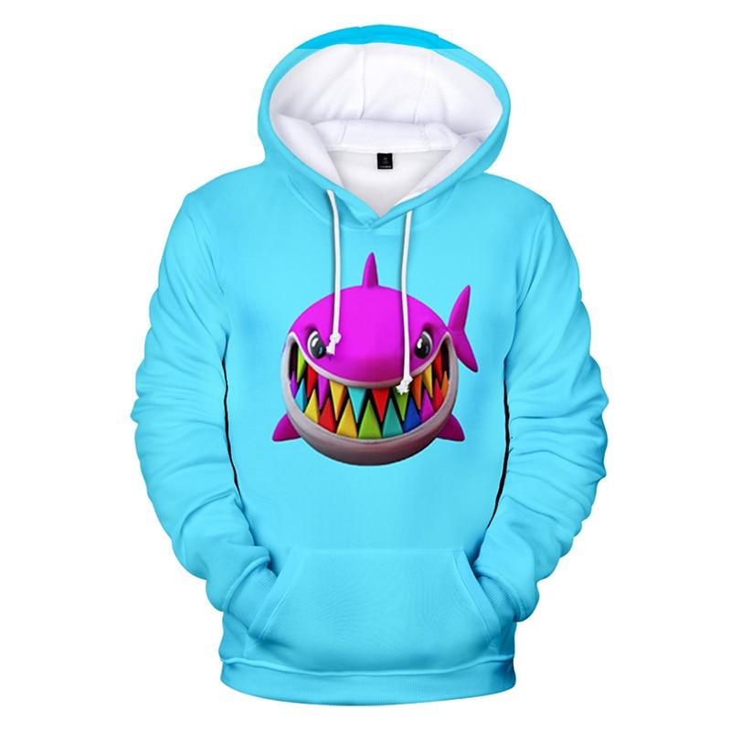 Fashion Rainbow Shark Cartoon Cool 3d Hoodies Pullover Men Women Hoodie Hoody Tops Pocket Long Sleeve 3D Hood Hooded Sweatshirts