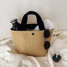 LITTHING sacs de paille pour femmes 2020 été rotin sac à la main tissé sac de plage bohême Bali sac à main Bolsos Mimbre