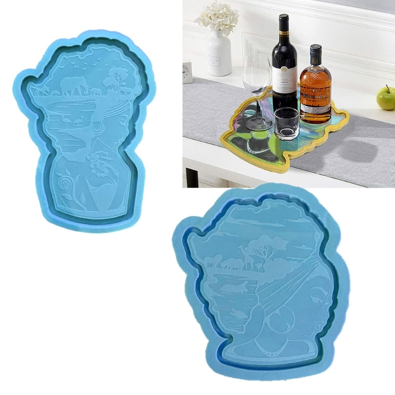 Epoxy Trays and Coasters DIY Ornaments Silicone Resin Molds Craft Tools for Home Decoration