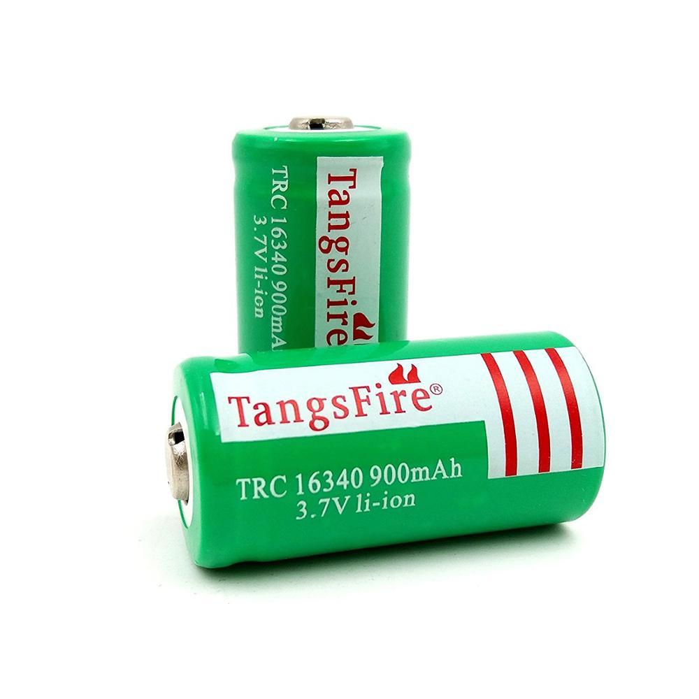 2 шт. 16340 RCR123 в литиевые батареи литий ионный Перезаряжаемые Батарея 3 7 V 900 мА