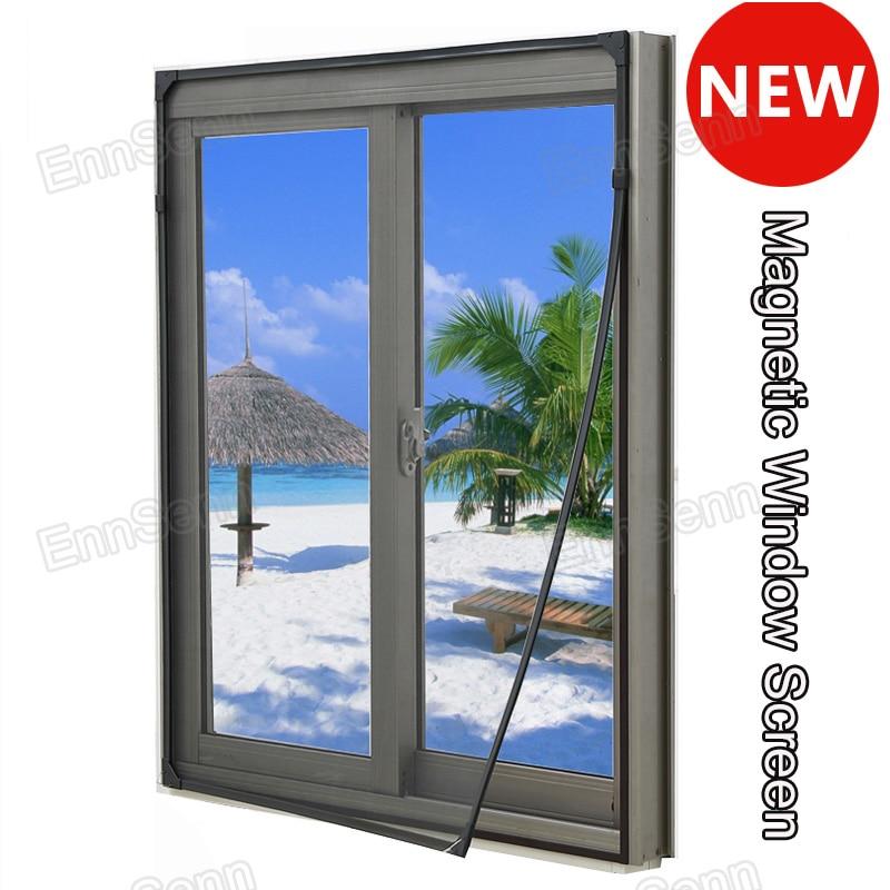شاشة نافذة مغناطيسية قابلة للتعديل ، شاشة عرض 50 سنتيمتر للنوافذ ، ناموسية بإطار كامل مع سهولة التركيب