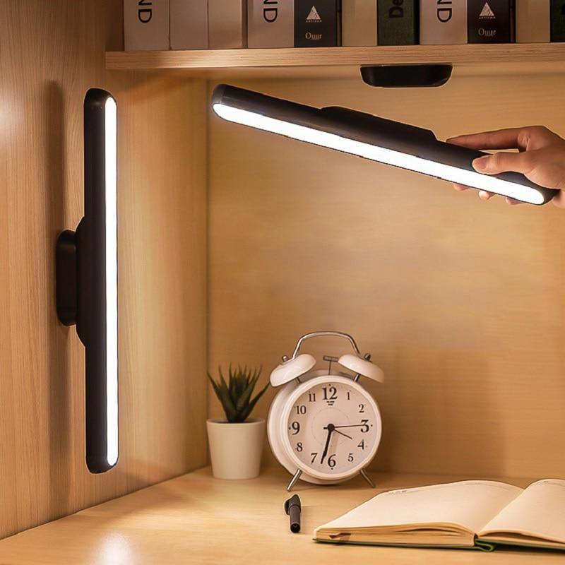Светодиодная настольная лампа, беспроводной светильник с USB-зарядкой и дистанционным управлением, с регулируемой яркостью, с защитой для гл...