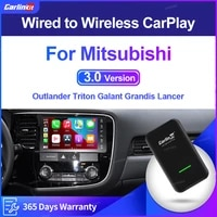 carlinkit 3 0 carplay wireless adapter for mitsubishi outlander triton galant grandis lancer pajero zinger 2015 2021 smart box