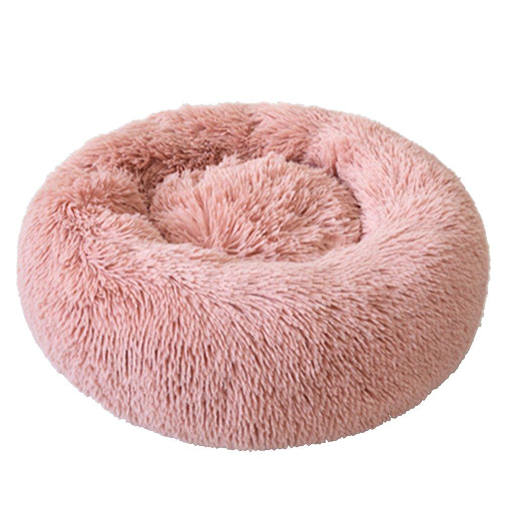 Profundo sueño de felpa redondo perro canil caja para gatos Otoño e...