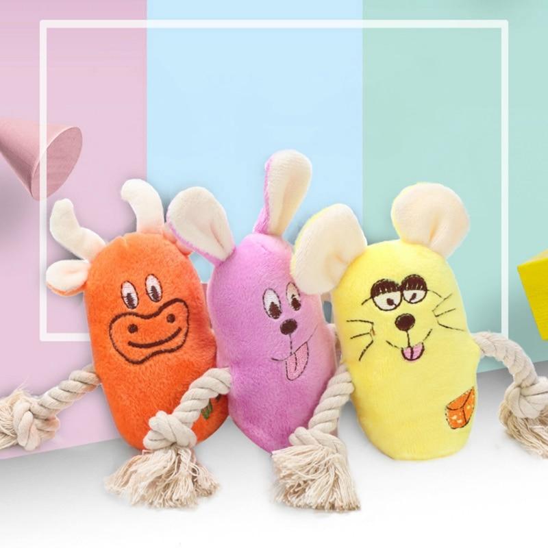 Animais de estimação adorável durável pelúcia brinquedos cães mastigar brinquedos para limpar dentes resolver tédio