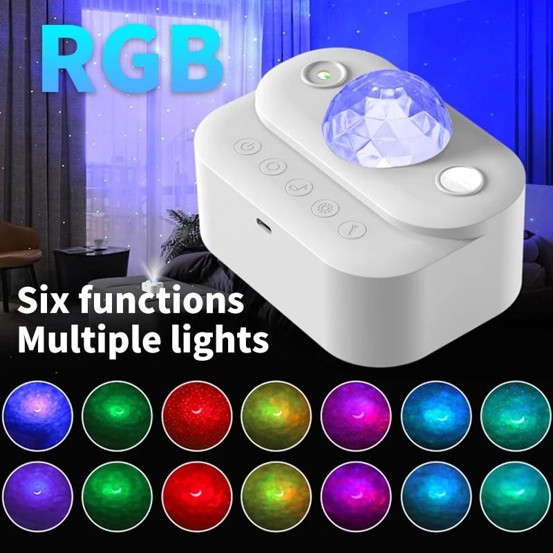 ночник проектор miniland dreamcube 89196 Проектор звездного неба, Галактический проектор, Bluetooth, ночник, декор комнаты, вращающийся звездное небо, волнистый ночник для спальни, Деко...