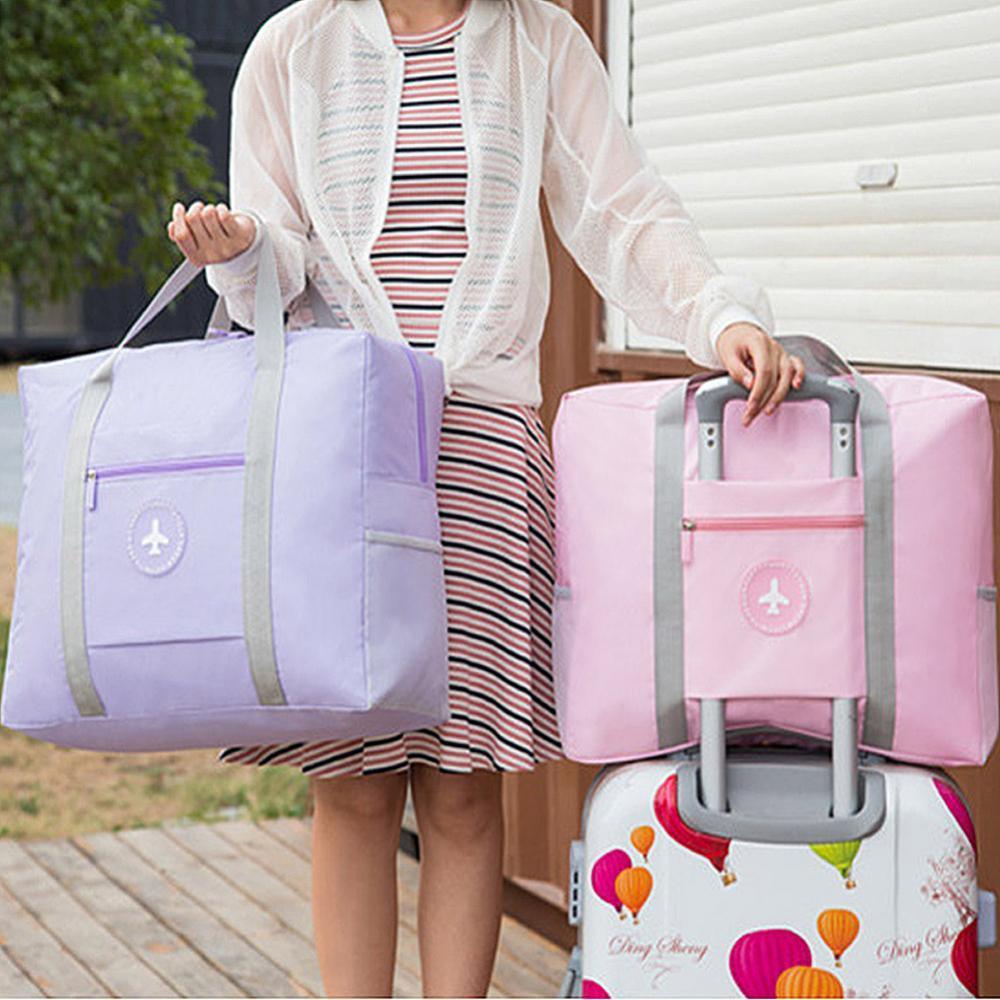 Waterproof durable solid color handbag travel fitness vacation duffel bag handbag portable boarding