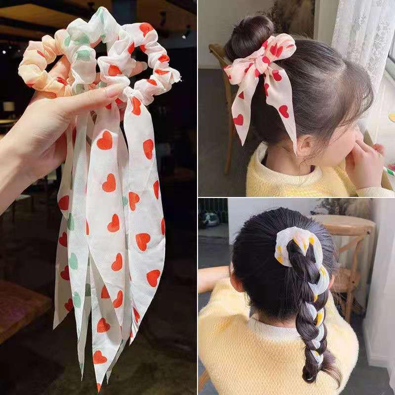 Резинка для волос в Корейском стиле для девочек с узлом, цвет в ассортименте