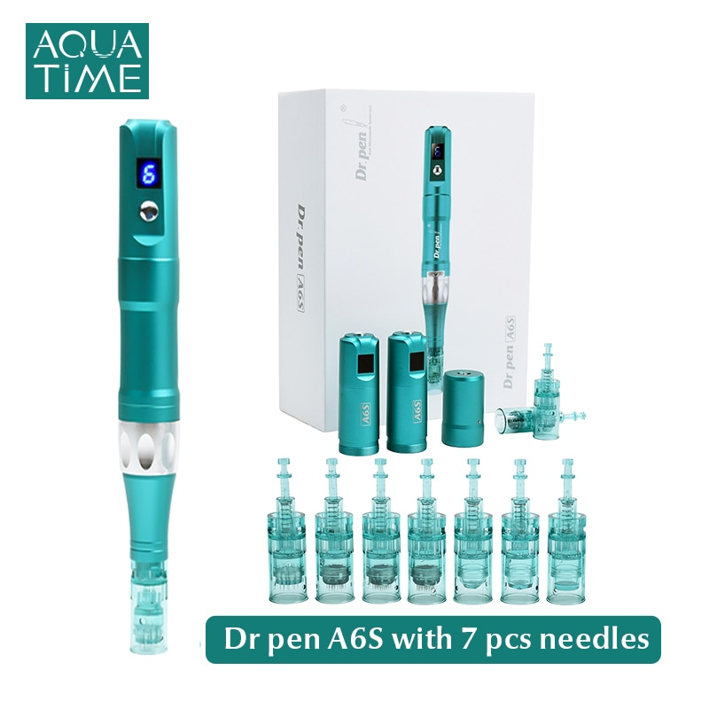 Dr Pen Ultima A6S With 7pcs Cartridges Kit Electric Microneedling Pen Professional Derma Pen Best Face Body Skin Care Tool