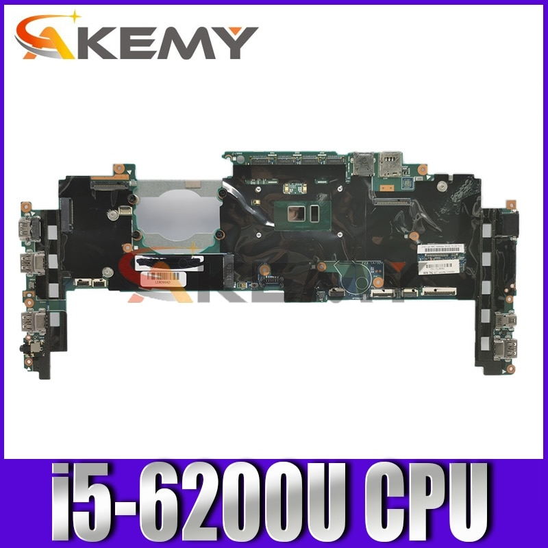Akemy اللوحة الأم للكمبيوتر المحمول لينوفو ثينك باد اليوغا X1 الرئيسية board00JT802 00JT806 448.04P15.002M 14 بوصة SR2EY I5-6200U وحدة المعالجة المركزية
