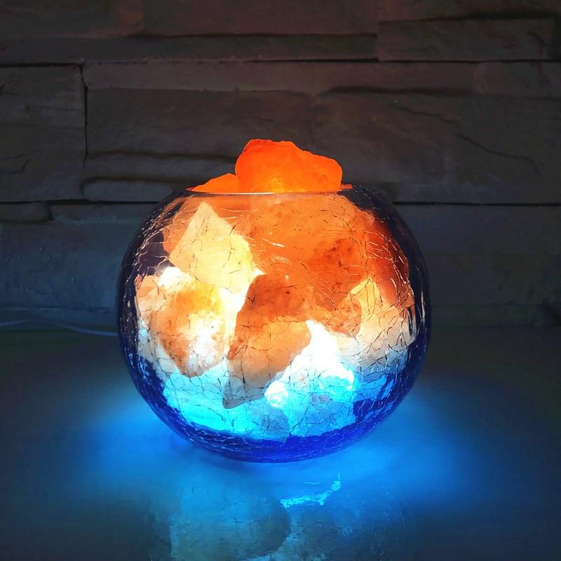 Usb Natural Himalayan Crystal Salt Lamp Negative Ion Feng Shui Lamp Creative Dimming Night Light enlarge