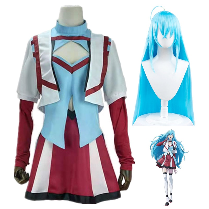 Vivy Fluorite Eye's Song Cosplay Costume Suit Adult Women Clothing Top Shawl Short Skirt Gloves Stockings Wig Set Prop