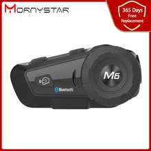 1000m Bluetooth Intercom Motorcycle Helmet Headsets for Rider BT Wireless Walkie Talkie Moto Stereo Interphone MP3 GPS FM Radio
