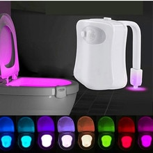 8 couleur Led siège de toilette lumière Auto-détection WC veilleuse capteur de mouvement intelligent rétro-éclairage cuvette de toilette salle de bains veilleuse enfants